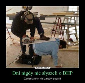 PROFIL SZKOLENIA WSTĘPNE I OKRESOWE BHP ANDRYCHÓW KĘTY WADOWICE przedstawia pracę niezgodną z BHP pracownika na stanowisku cięcia piły